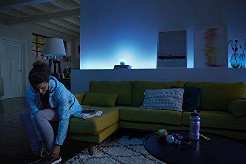iluminación inteligente del hogar regulable con phillips hue y google home