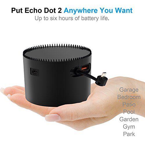 Base con Batería K12 para Alexa Echo Dot 2