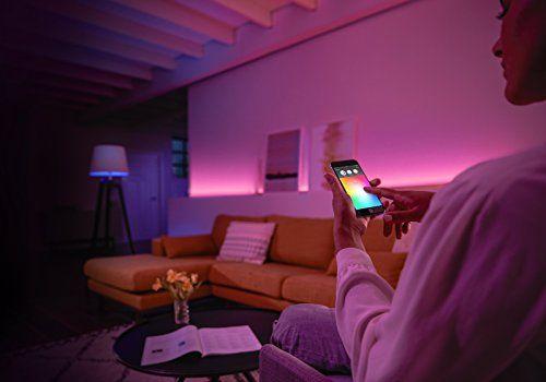 control de luz inteligente con phillip hue mediante la app y el smartphone