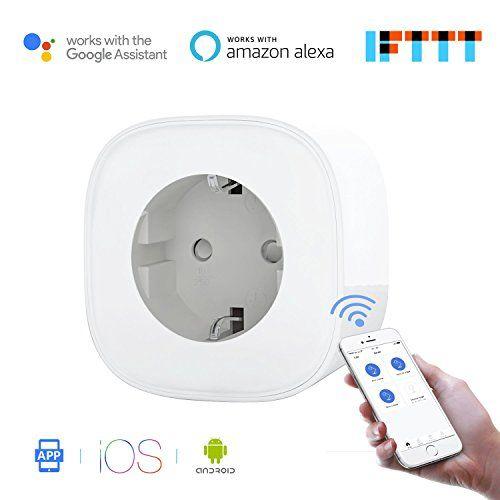 Wi-Fi Enchufe Inteligente Inalámbrico con Monitor de Energía