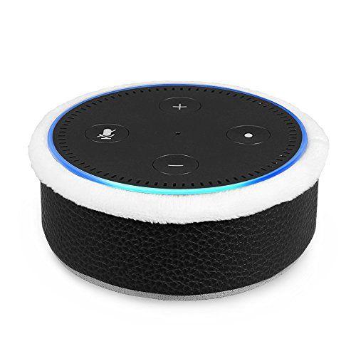 Carcasa Protectora de Piel negra para Amazon Echo Dot - FINTIE
