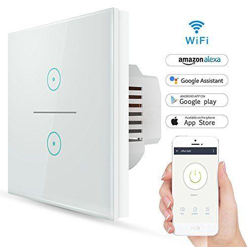interruptor inteligente wifi gremag con alexa, google home, android, ios