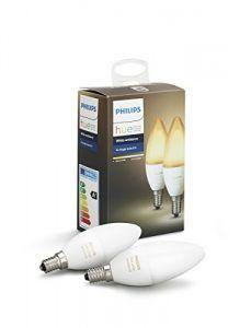 pack de dos bombillas led phillips hue con luz ambiente blanca
