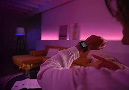 control de iluminación phillips hue desde smart watch con google home