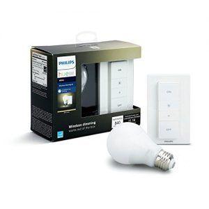 PHILLIPS HUE WHITE - Kit de bombilla inteligente + interruptor inteligente