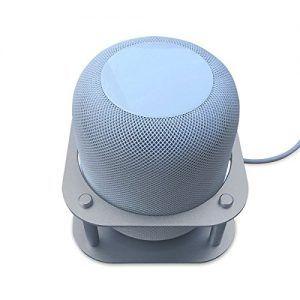 oporte metálico MERES para los altavoces de Apple HomePod (plata).