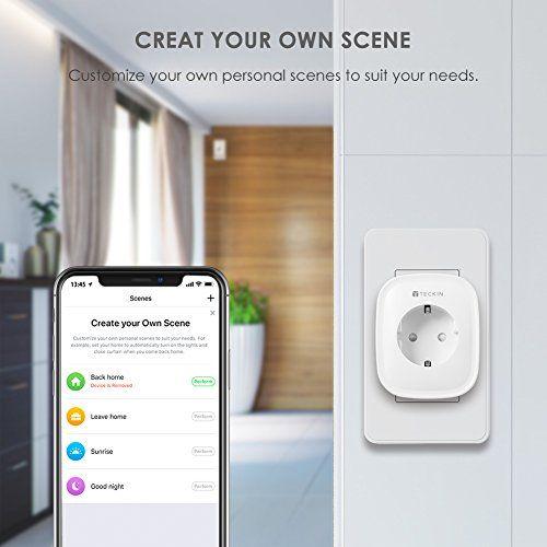 teckin enchufe inteligente para hogar inteligente y smartphone
