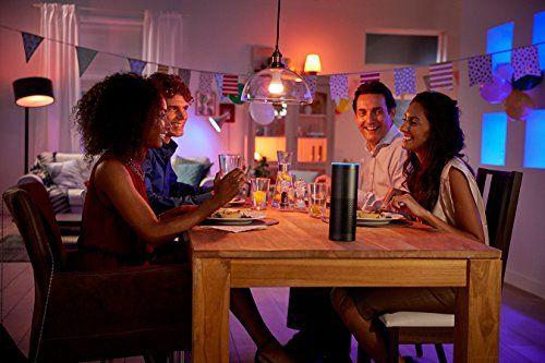 iluminación inteligente para cena con amigos con phillips hue y amazon alexa