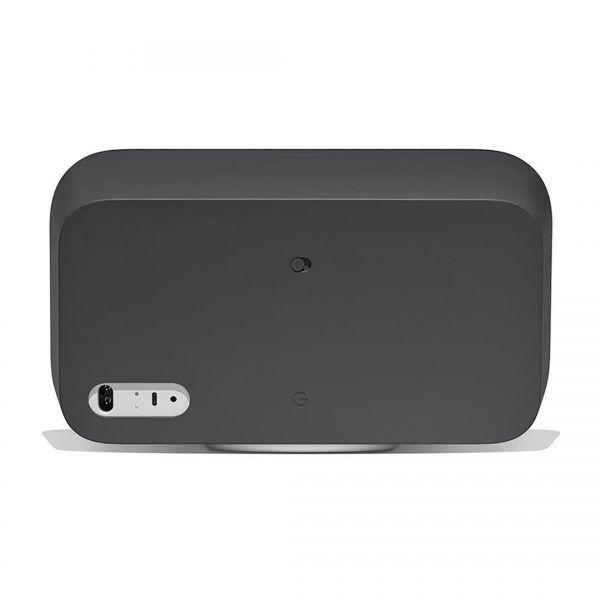 smart speaker google home max negro desde atrás