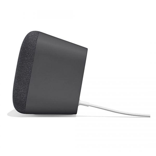 lateral del altavoz inteligente google home max color negro