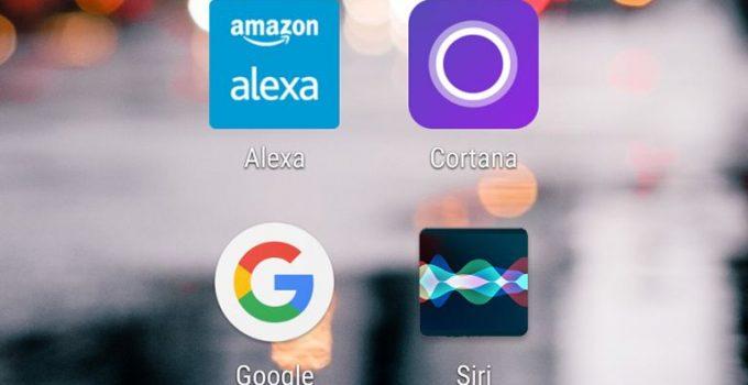 asistentes digitales alexa cortana google siri