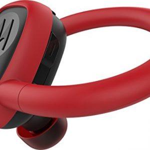 MOTOROLA STREAM SPORT - Mini Auriculares color rojo con Alexa, Siri y Google